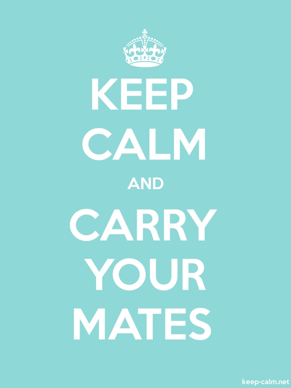 KEEP CALM AND CARRY YOUR MATES - white/lightblue - Default (600x800)