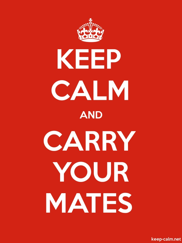 KEEP CALM AND CARRY YOUR MATES - white/red - Default (600x800)