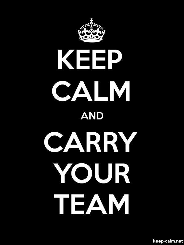 KEEP CALM AND CARRY YOUR TEAM - white/black - Default (600x800)