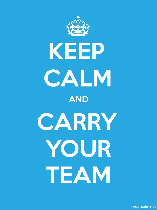 KEEP CALM AND CARRY YOUR TEAM - white/blue - Default (600x800)