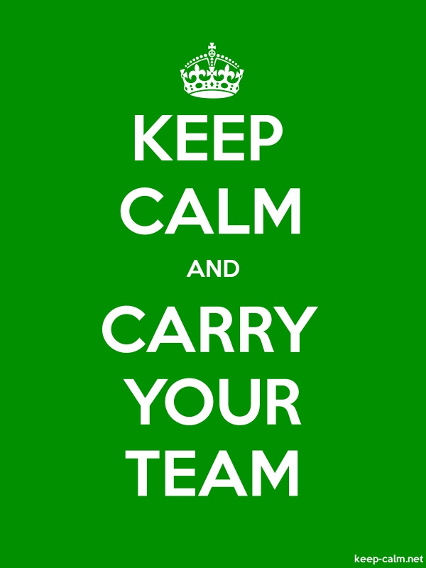 KEEP CALM AND CARRY YOUR TEAM - white/green - Default (600x800)