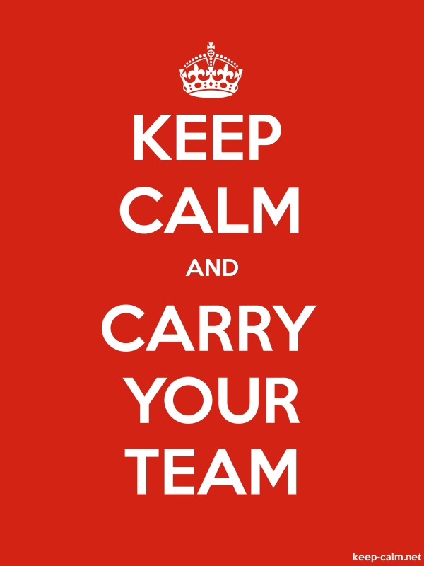 KEEP CALM AND CARRY YOUR TEAM - white/red - Default (600x800)