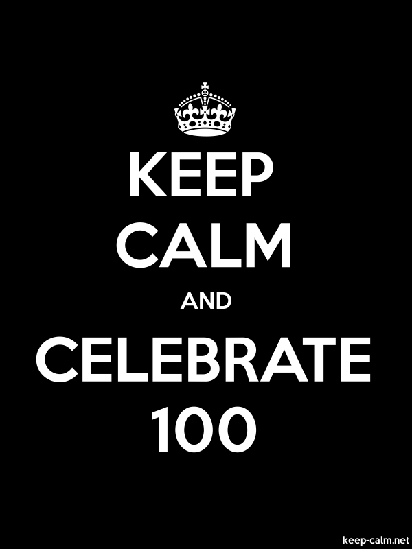 KEEP CALM AND CELEBRATE 100 - white/black - Default (600x800)