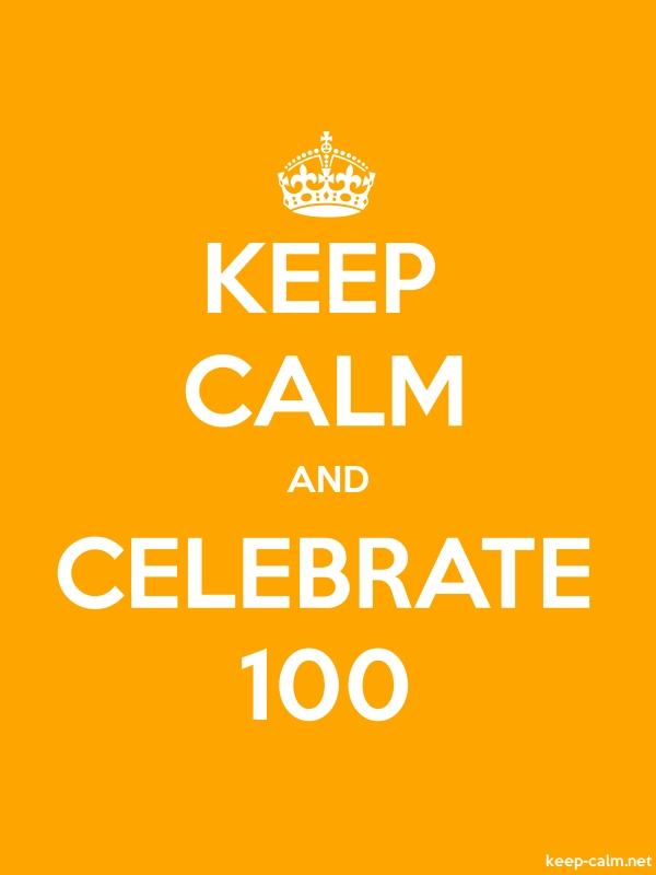 KEEP CALM AND CELEBRATE 100 - white/orange - Default (600x800)