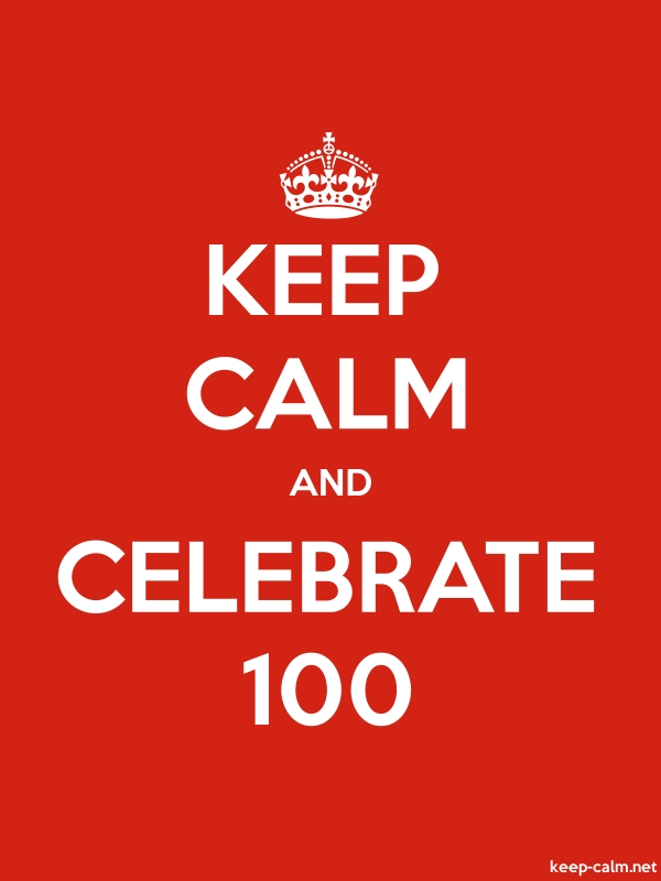 KEEP CALM AND CELEBRATE 100 - white/red - Default (600x800)