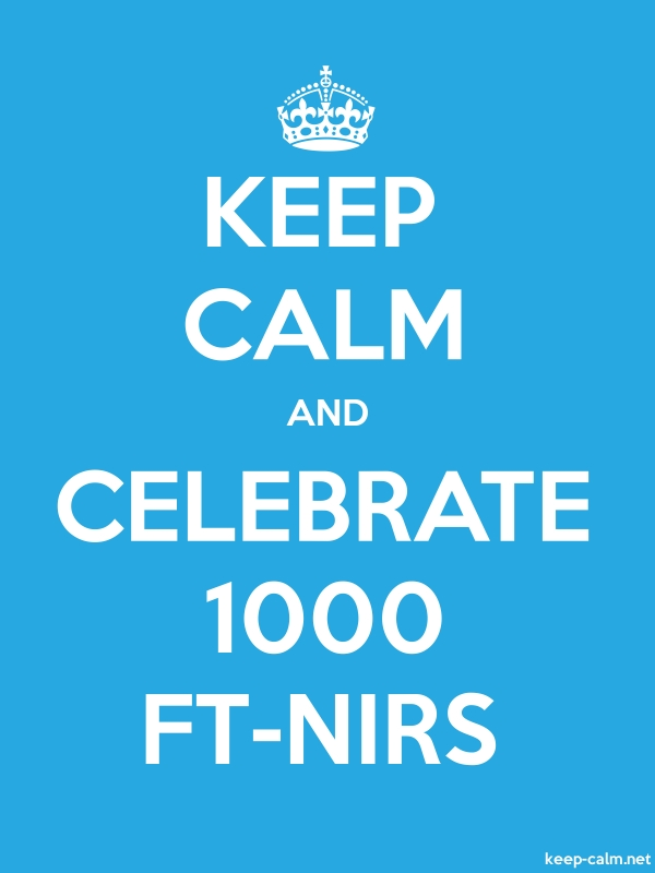 KEEP CALM AND CELEBRATE 1000 FT-NIRS - white/blue - Default (600x800)
