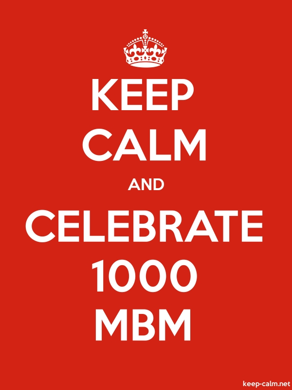 KEEP CALM AND CELEBRATE 1000 MBM - white/red - Default (600x800)