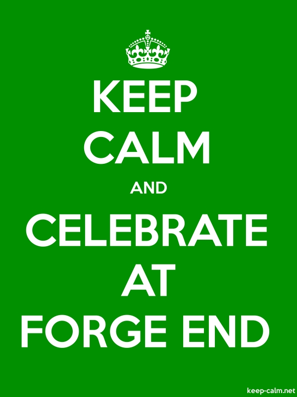 KEEP CALM AND CELEBRATE AT FORGE END - white/green - Default (600x800)
