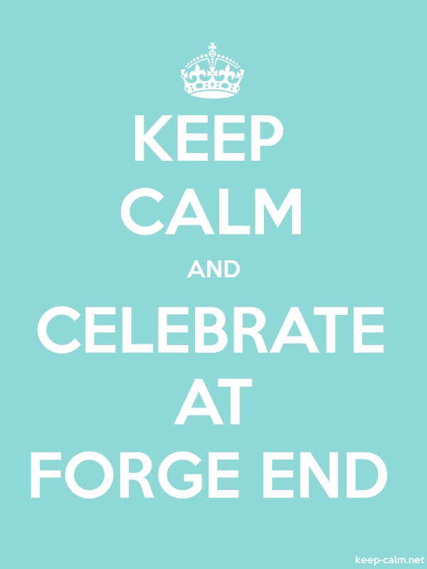 KEEP CALM AND CELEBRATE AT FORGE END - white/lightblue - Default (600x800)