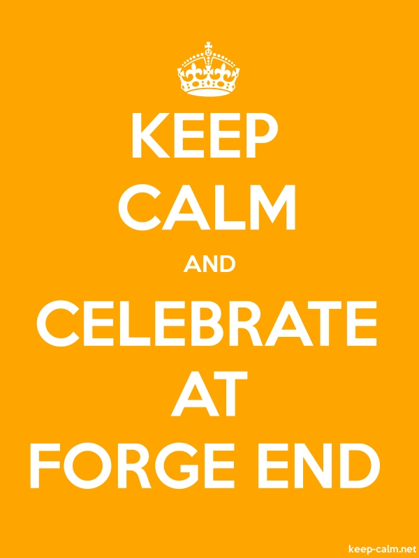 KEEP CALM AND CELEBRATE AT FORGE END - white/orange - Default (600x800)