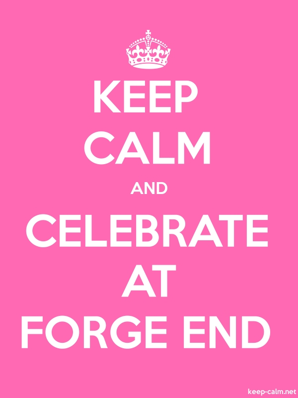 KEEP CALM AND CELEBRATE AT FORGE END - white/pink - Default (600x800)