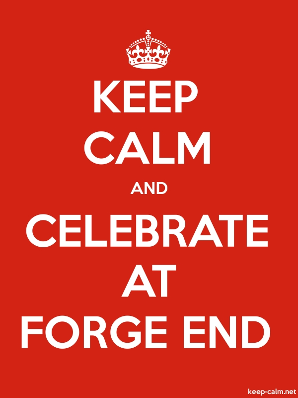 KEEP CALM AND CELEBRATE AT FORGE END - white/red - Default (600x800)