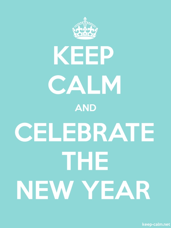 KEEP CALM AND CELEBRATE THE NEW YEAR - white/lightblue - Default (600x800)