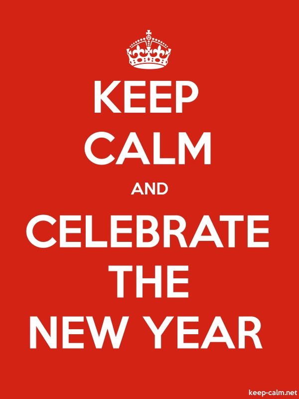 KEEP CALM AND CELEBRATE THE NEW YEAR - white/red - Default (600x800)
