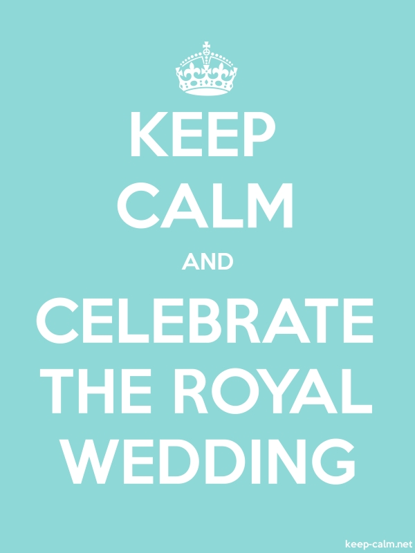 KEEP CALM AND CELEBRATE THE ROYAL WEDDING - white/lightblue - Default (600x800)