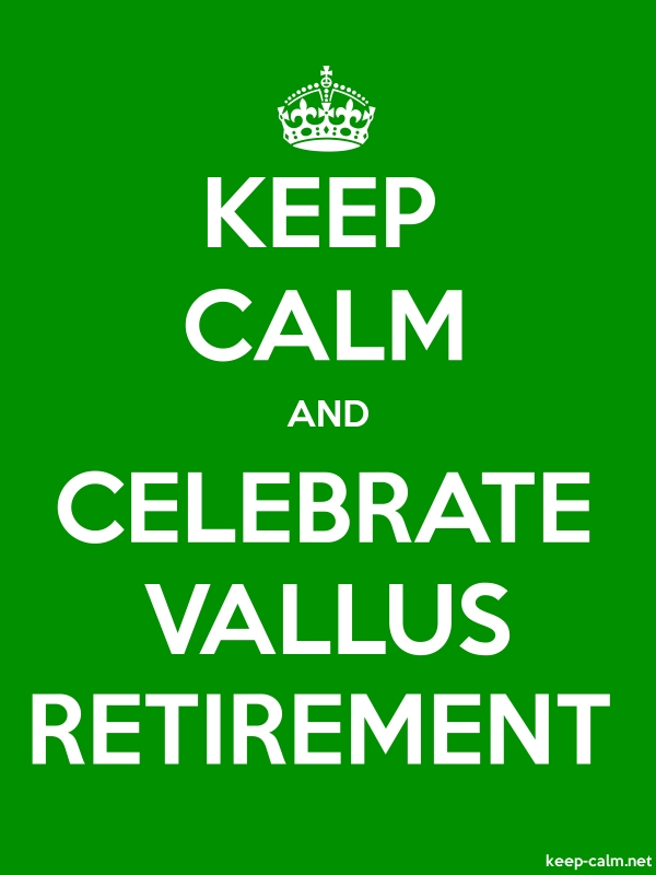 KEEP CALM AND CELEBRATE VALLUS RETIREMENT - white/green - Default (600x800)