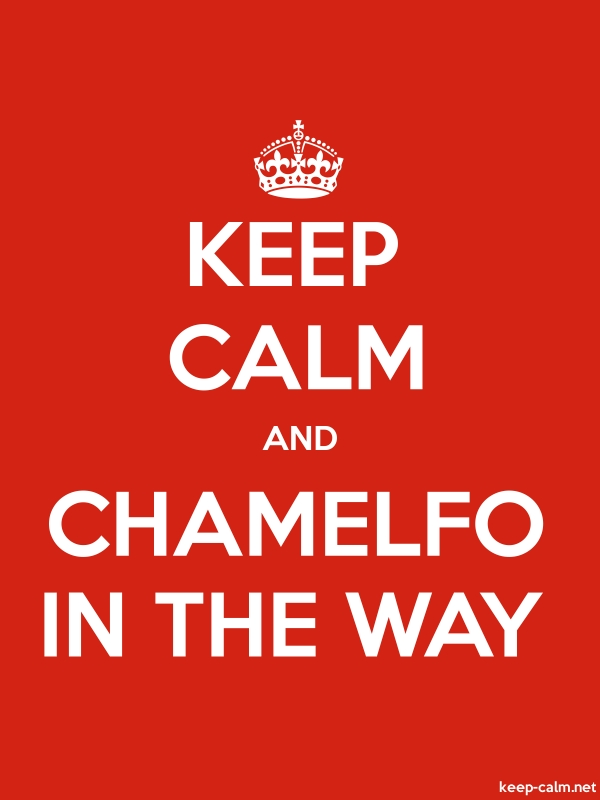 KEEP CALM AND CHAMELFO IN THE WAY - white/red - Default (600x800)