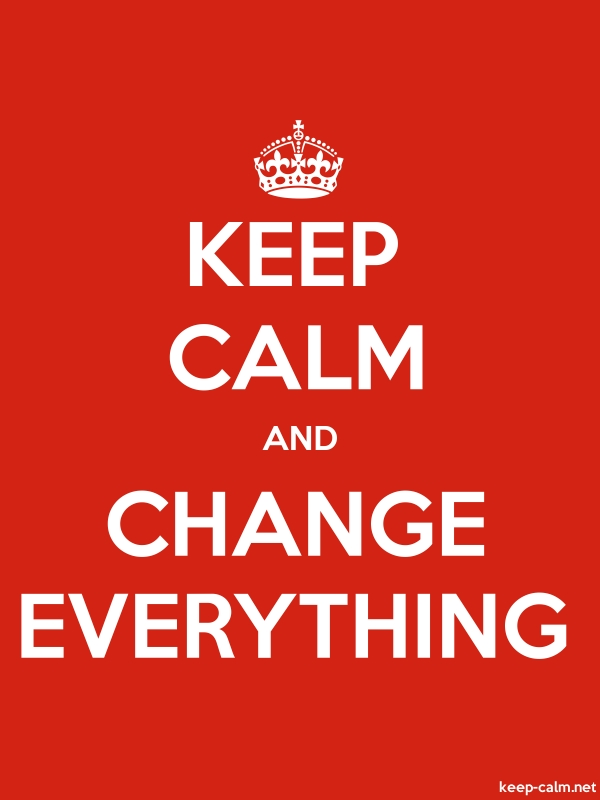 KEEP CALM AND CHANGE EVERYTHING - white/red - Default (600x800)