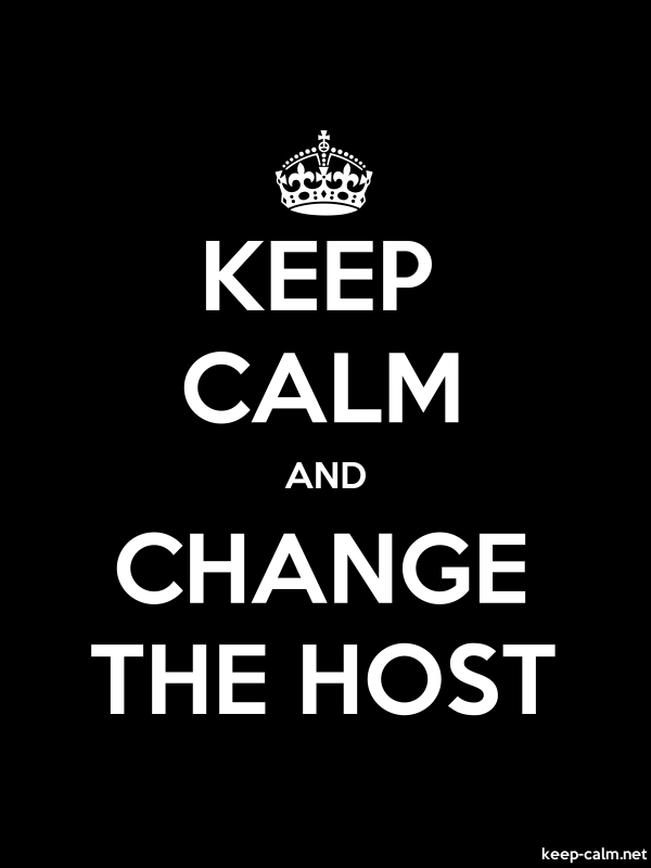 KEEP CALM AND CHANGE THE HOST - white/black - Default (600x800)