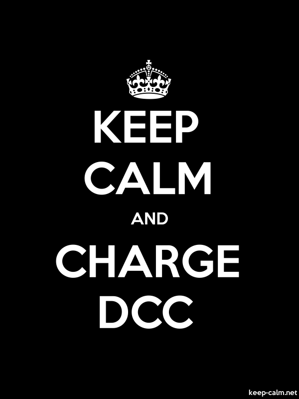 KEEP CALM AND CHARGE DCC - white/black - Default (600x800)
