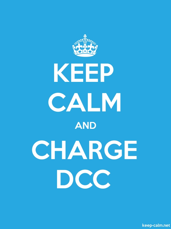 KEEP CALM AND CHARGE DCC - white/blue - Default (600x800)