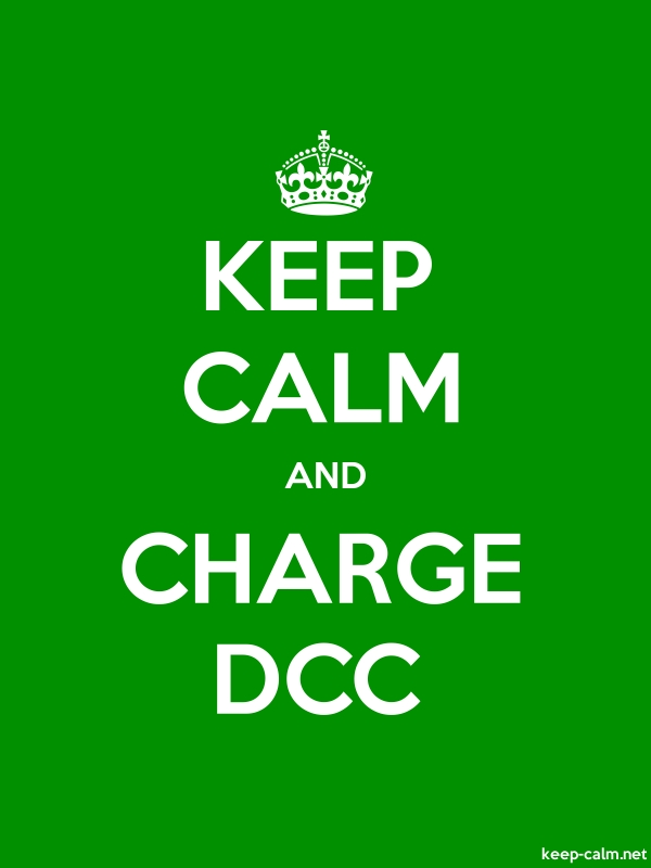 KEEP CALM AND CHARGE DCC - white/green - Default (600x800)