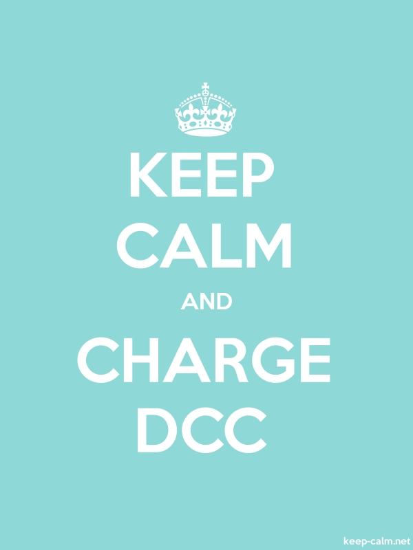 KEEP CALM AND CHARGE DCC - white/lightblue - Default (600x800)