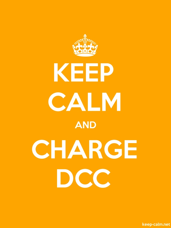 KEEP CALM AND CHARGE DCC - white/orange - Default (600x800)