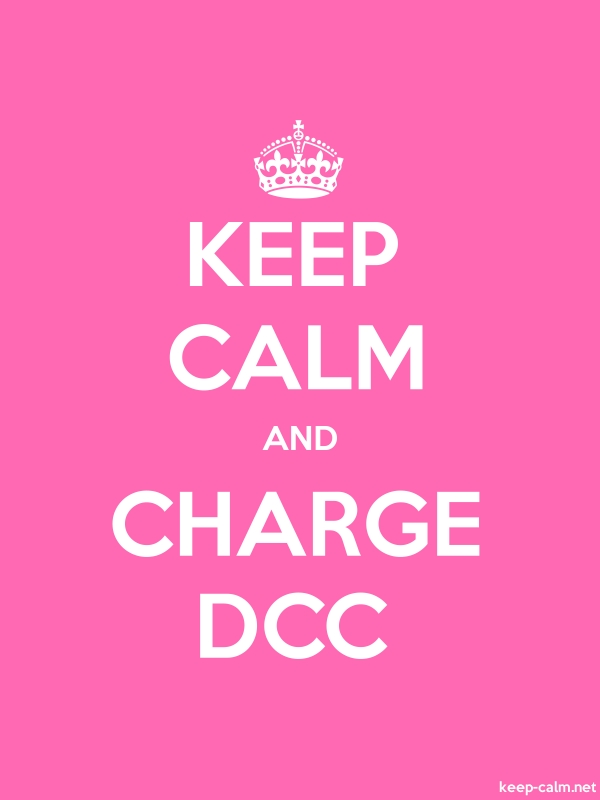 KEEP CALM AND CHARGE DCC - white/pink - Default (600x800)