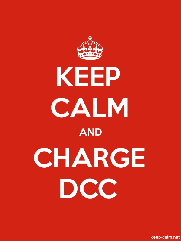 KEEP CALM AND CHARGE DCC - white/red - Default (600x800)