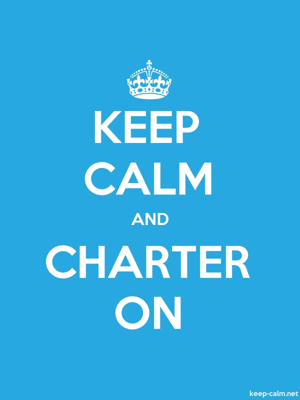KEEP CALM AND CHARTER ON - white/blue - Default (600x800)