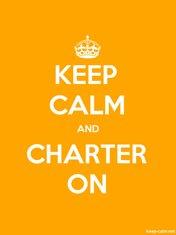 KEEP CALM AND CHARTER ON - white/orange - Default (600x800)