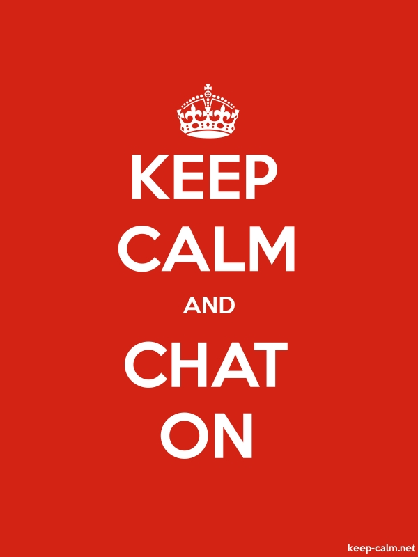 KEEP CALM AND CHAT ON - white/red - Default (600x800)