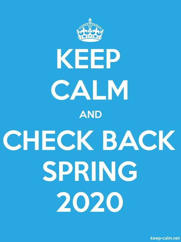 KEEP CALM AND CHECK BACK SPRING 2020 - white/blue - Default (600x800)