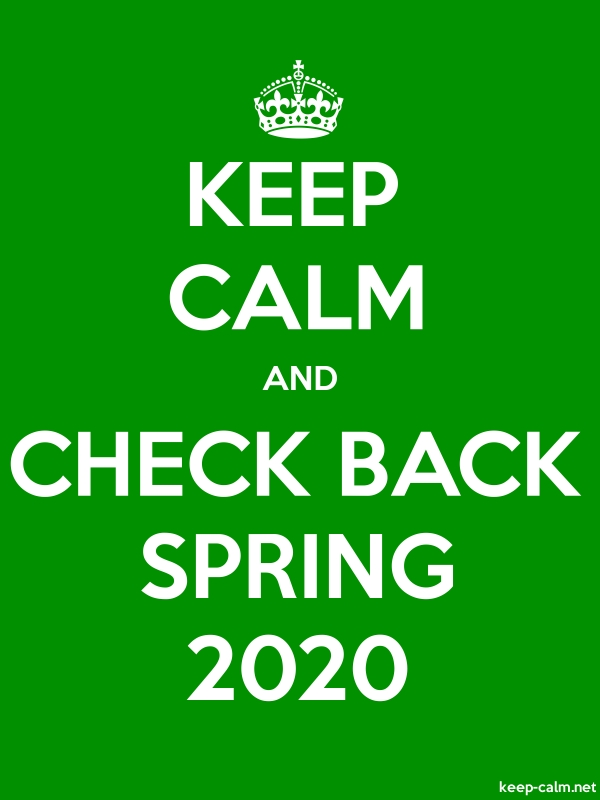 KEEP CALM AND CHECK BACK SPRING 2020 - white/green - Default (600x800)