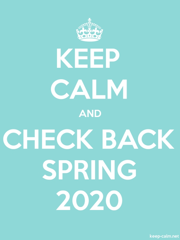 KEEP CALM AND CHECK BACK SPRING 2020 - white/lightblue - Default (600x800)