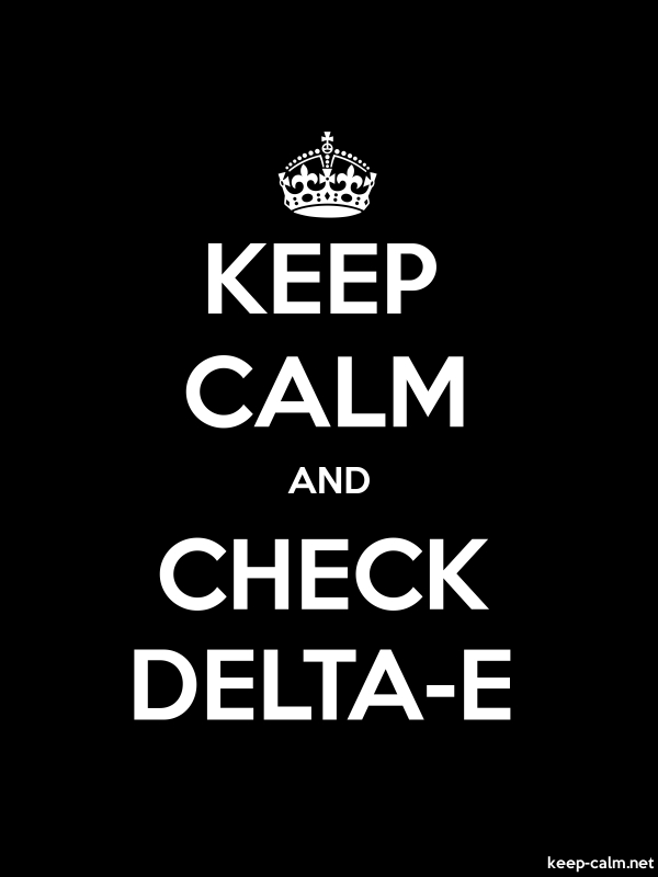 KEEP CALM AND CHECK DELTA-E - white/black - Default (600x800)