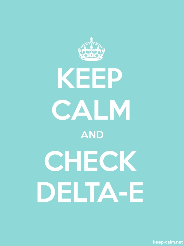 KEEP CALM AND CHECK DELTA-E - white/lightblue - Default (600x800)