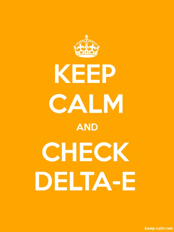 KEEP CALM AND CHECK DELTA-E - white/orange - Default (600x800)