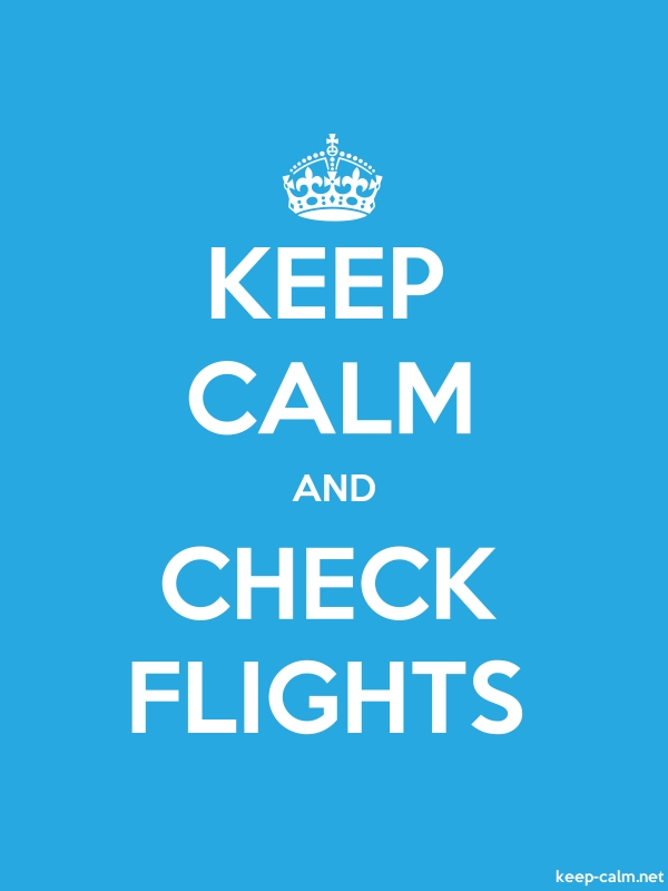 KEEP CALM AND CHECK FLIGHTS - white/blue - Default (600x800)