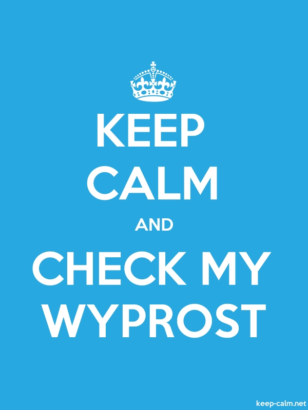 KEEP CALM AND CHECK MY WYPROST - white/blue - Default (600x800)