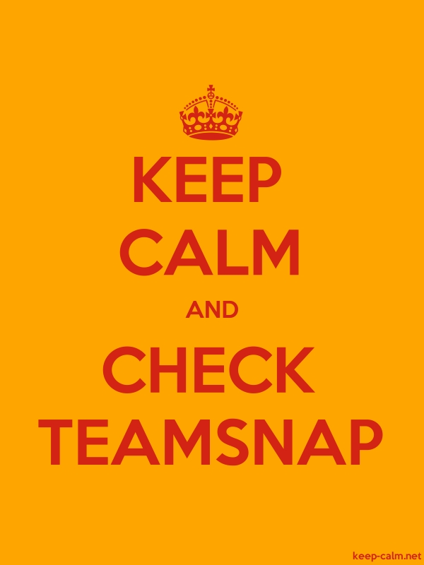 KEEP CALM AND CHECK TEAMSNAP - red/orange - Default (600x800)