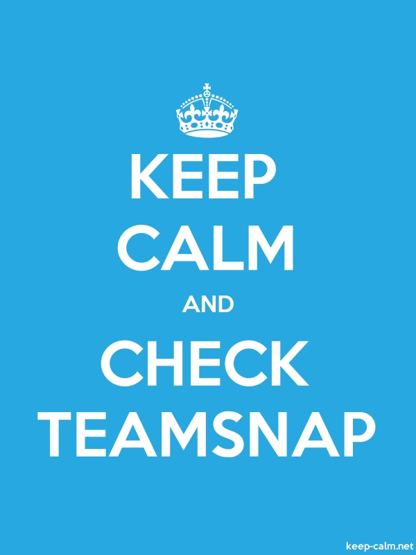 KEEP CALM AND CHECK TEAMSNAP - white/blue - Default (600x800)