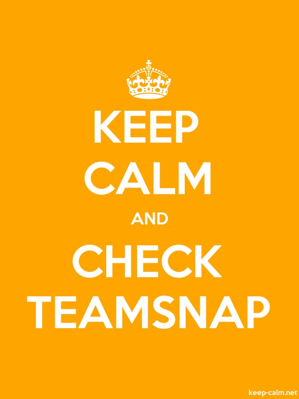 KEEP CALM AND CHECK TEAMSNAP - white/orange - Default (600x800)