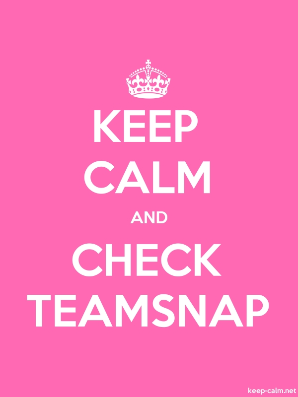 KEEP CALM AND CHECK TEAMSNAP - white/pink - Default (600x800)