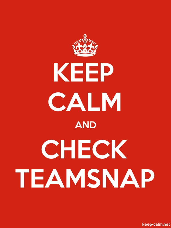 KEEP CALM AND CHECK TEAMSNAP - white/red - Default (600x800)