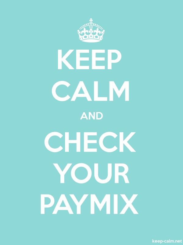 KEEP CALM AND CHECK YOUR PAYMIX - white/lightblue - Default (600x800)