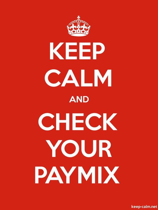 KEEP CALM AND CHECK YOUR PAYMIX - white/red - Default (600x800)