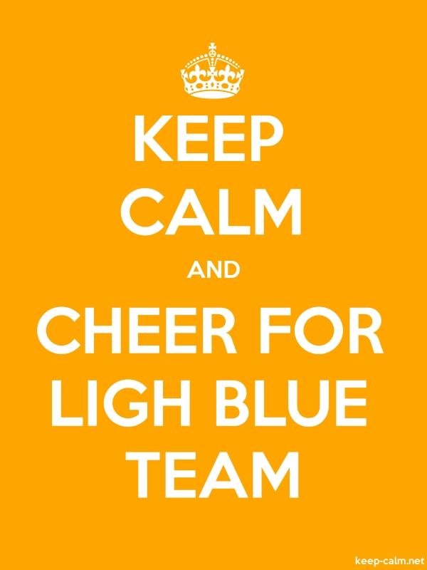 KEEP CALM AND CHEER FOR LIGH BLUE TEAM - white/orange - Default (600x800)