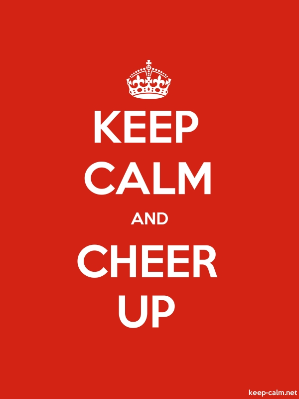 KEEP CALM AND CHEER UP - white/red - Default (600x800)